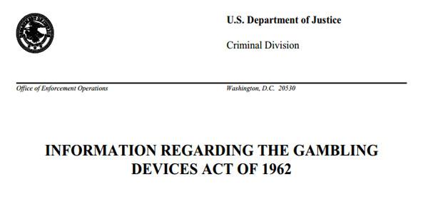 US gambling registration Act