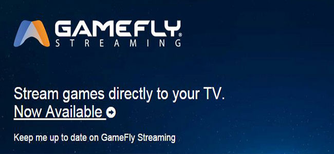 GameFly streaming games