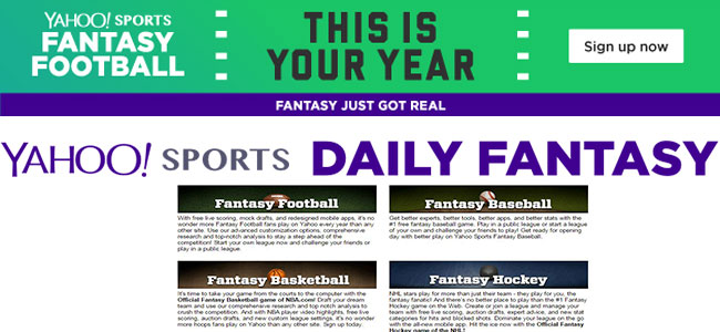 fantasy sports yahoo