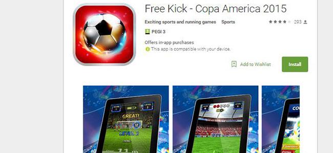 Free kick android app