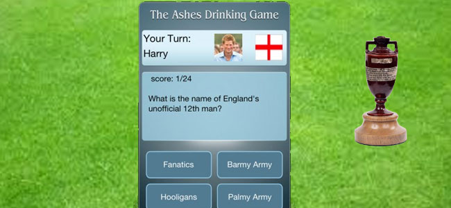 the ashes drinking game