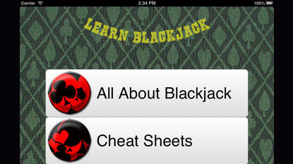 learn blackjack application
